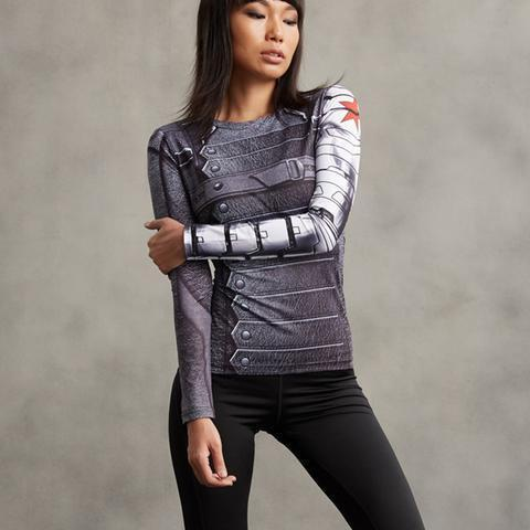 "Buck ""Winter Soldier"" Women's Compression Long Sleeve Rashguard-RashGuardStore"