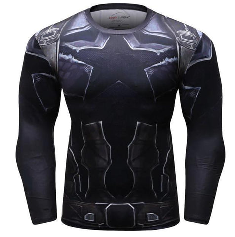 Captain America 'Infinity War Nomad' Long Sleeve Compression Rash Guard-RashGuardStore