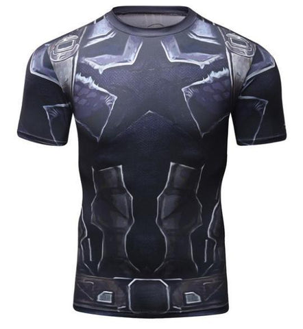 Captain America 'Infinity War Nomad' Short Sleeve Compression Rash Guard-RashGuardStore