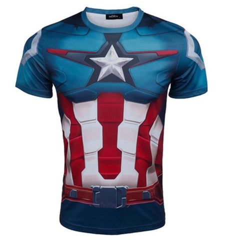 "Captain America ""Steve Rogers"" Compression Rash Guard-RashGuardStore"
