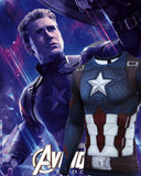 Captain America Steve Rogers 'End Game' Premium Long Sleeve Compression Rash Guard-RashGuardStore