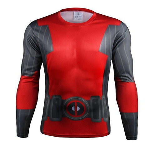 "Deadpool ""Animated"" Compression Long Sleeve Rashguard-RashGuardStore"