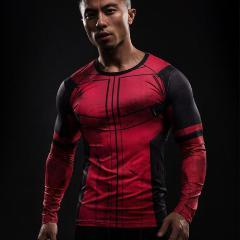 Deadpool 'Comic' Long Sleeve Compression Rashguard-RashGuardStore