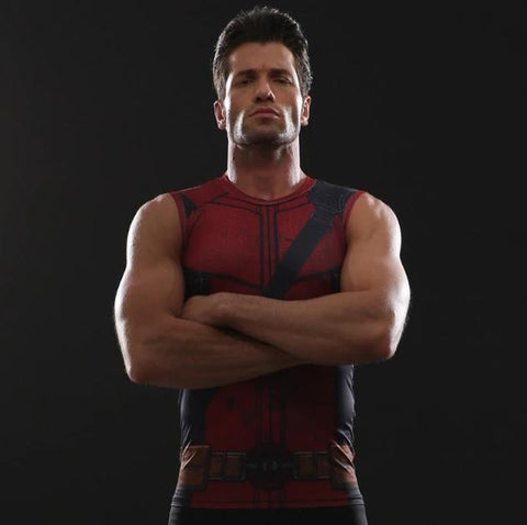 Deadpool Compression Tank Top-RashGuardStore