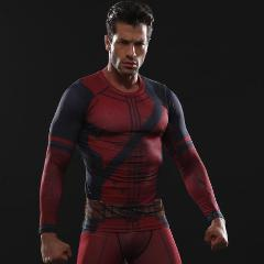 Deadpool Long Sleeve Compression Rashguard-RashGuardStore