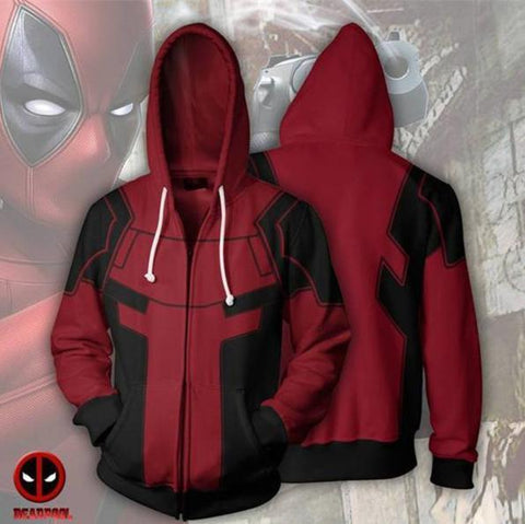 Deadpool Zip Up Hoodie-RashGuardStore
