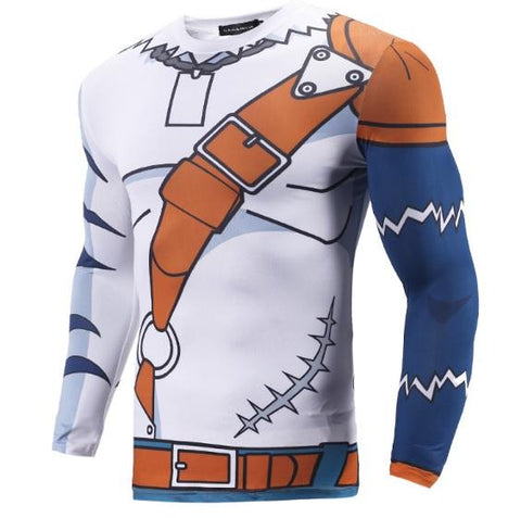 Digimon 'Weregarurumon' Long Sleeve Compression Rash Guard-RashGuardStore