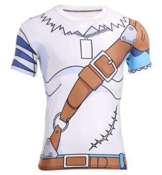 Digimon 'Weregarurumon' Short Sleeve Compression Rash Guard-RashGuardStore