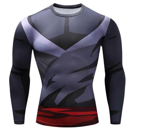 Gohan Super Saiyan Gi Dragon Ball Z Long Sleeve Compression Rash Guard-RashGuardStore