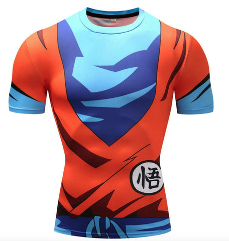 Goku Dragon Ball Z Compression Rash Guard-RashGuardStore