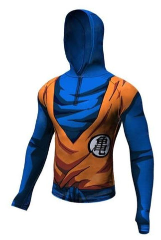 Goku Dragon Ball Z Long Sleeve Rashguard Hoodie-RashGuardStore