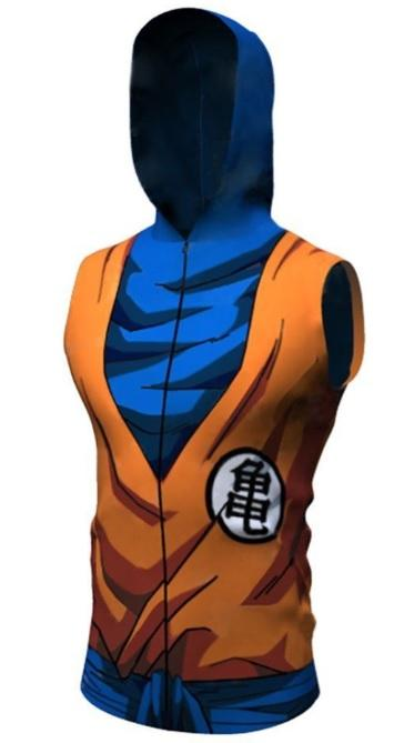 Goku Dragon Ball Z Sleeveless Hoodie-RashGuardStore