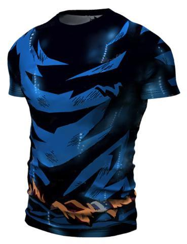Goku Ultra Instinct Dragon Ball Z Short Sleeve Compression Rash Guard-RashGuardStore