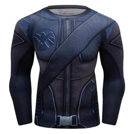 Green Arrow Compression Long Sleeve Rash Guard-RashGuardStore