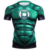 Green Lantern 'Comic' Compression Short Sleeve Rash Guard-RashGuardStore