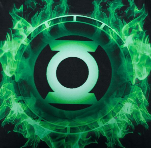 Green Lantern 'Green Flame' Premium Dri-Fit Short Sleeve Rash Guard-RashGuardStore