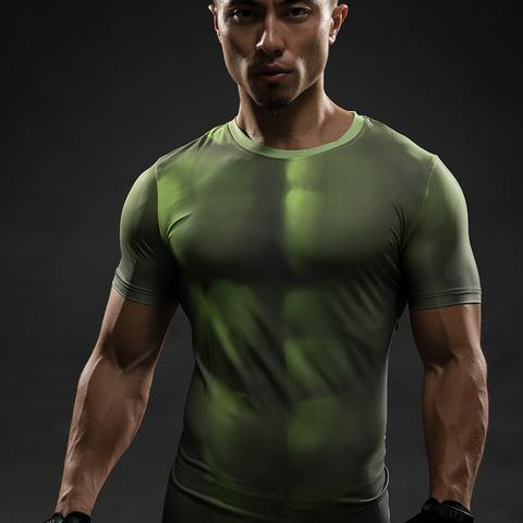 "Incredible Hulk ""Too Late"" Short Sleeve Compression Rash Guard-RashGuardStore"