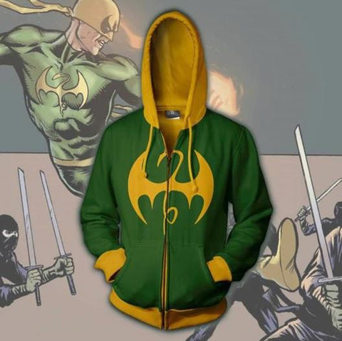 Iron Fist Zip Up Hoodie-RashGuardStore