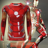 "Iron Man 3 ""Mark Xlii"" Compression Long Sleeve Rashguard-RashGuardStore"
