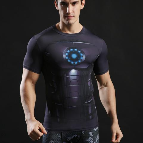 "Iron Man 3 ""Mark Xviii"" Compression Rash Guard-RashGuardStore"