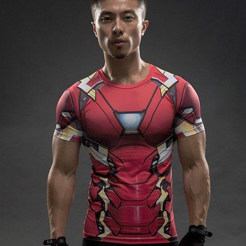 "Iron Man 3 ""Mark Xxxiii"" Compression Rash Guard-RashGuardStore"