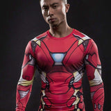 "Iron Man 3 ""Mark Xxxiii"" Long Sleeve Compression Rash Guard-RashGuardStore"