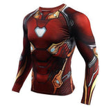 "Iron Man ""Nano Tech"" Infinity War Compression Long Sleeve Rash Guard-RashGuardStore"