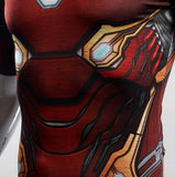 "Iron Man ""Nano Tech"" Infinity War Compression Short Sleeve Rash Guard-RashGuardStore"