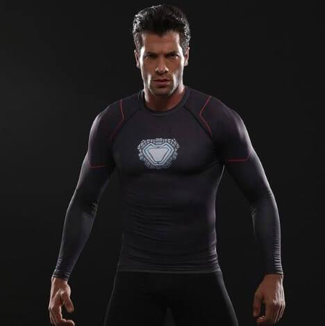 Iron Man 'Tony Stark' Infinity War Long Sleeve Undersuit Compression Rash Guard-RashGuardStore