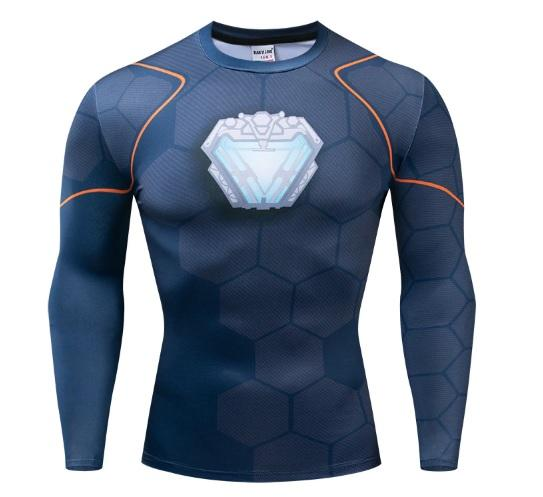 cabd8529 Iron Man 'Tony Stark' Infinity War Long Sleeve Undersuit Dri-Fit Rash Guard