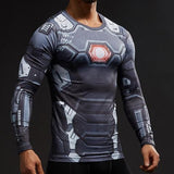 "Iron Man ""War Machine"" Compression Long Sleeve Rashguard-RashGuardStore"