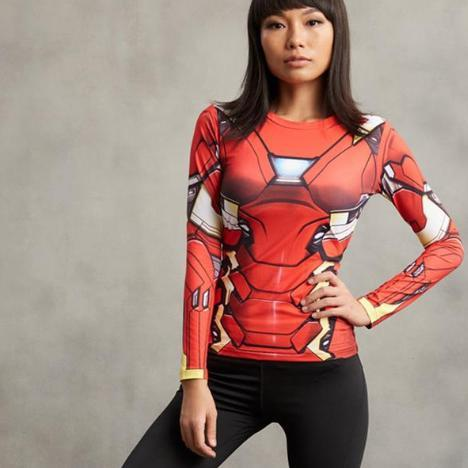 Iron Man Women's Compression Long Sleeve Rashguard-RashGuardStore