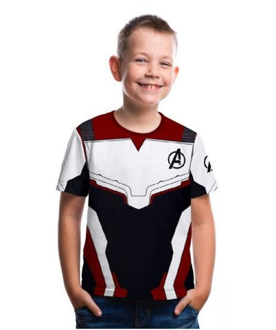 "Kid's Avengers ""End Game"" Short Sleeve Compression Rash Guard-RashGuardStore"