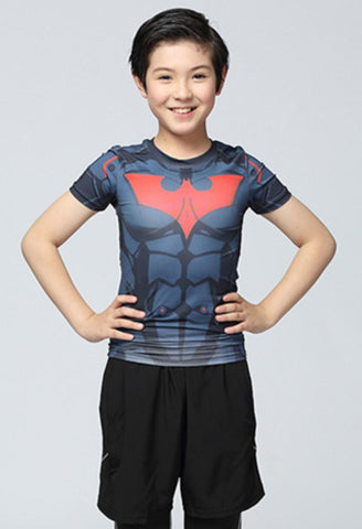 Kid's Batman Beyond Compression Rash Guard-RashGuardStore