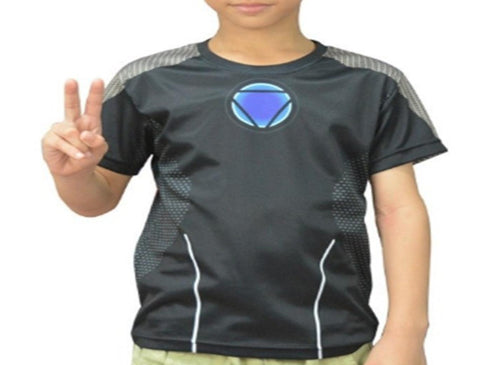 "Kid's Iron Man ""Tony's Workshop"" Compression Rash Guard-RashGuardStore"