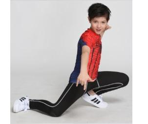 Kid's Spiderman Compression Short Sleeve Rashguard-RashGuardStore