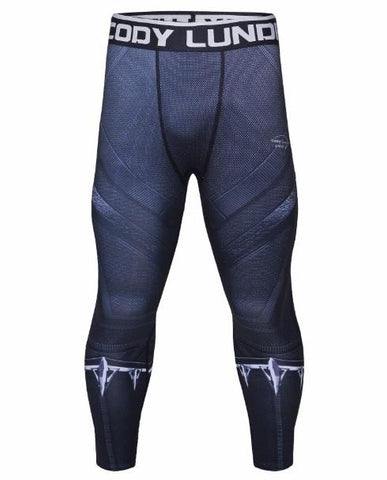 Men's Black Panther Infinity War Premium Compression Leggings Spats-RashGuardStore