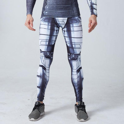 "Men's Buck ""Winter Soldier"" Armor Compression Leggings Grappling Spats-RashGuardStore"