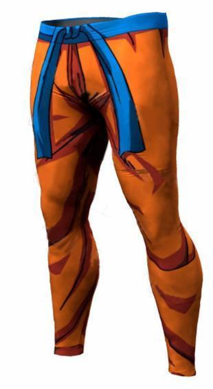 Men's Goku Saiyan Saga Armor Dragon Ball Z Leggings Premium Compression Spats-RashGuardStore