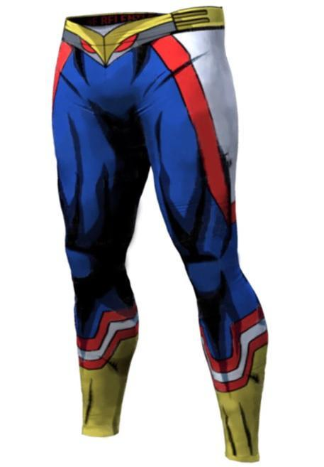 Men's My Hero Academia 'All Might' Leggings Compression Spats-RashGuardStore