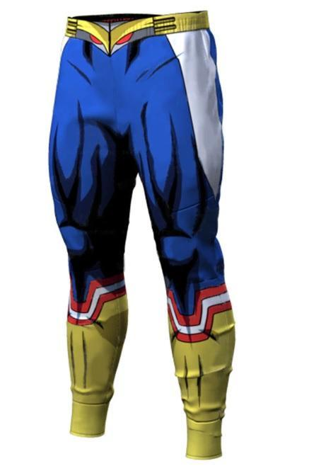 Men's My Hero Academia 'All Might Silver Age' Leggings Compression Spats-RashGuardStore