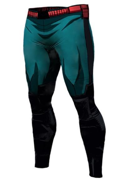 Men's My Hero Academia 'Deku' Leggings Compression Spats-RashGuardStore