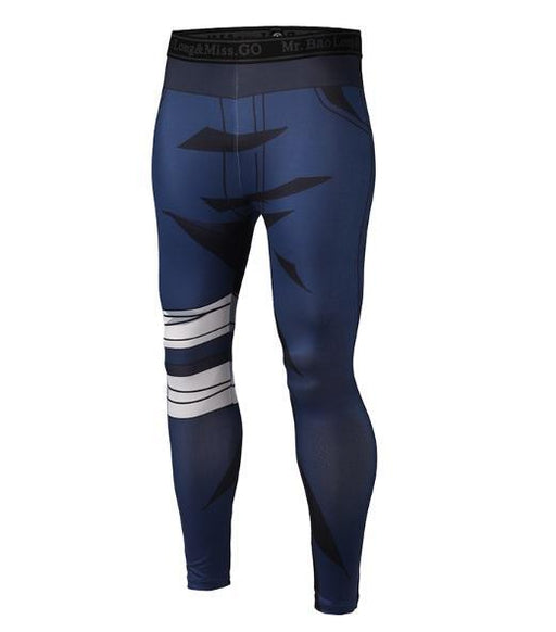 Men's Naruto 'Kakashi' Leggings Compression Spats-RashGuardStore