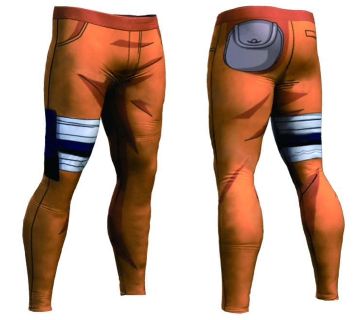 Men's Naruto Premium Leggings Compression Spats-RashGuardStore