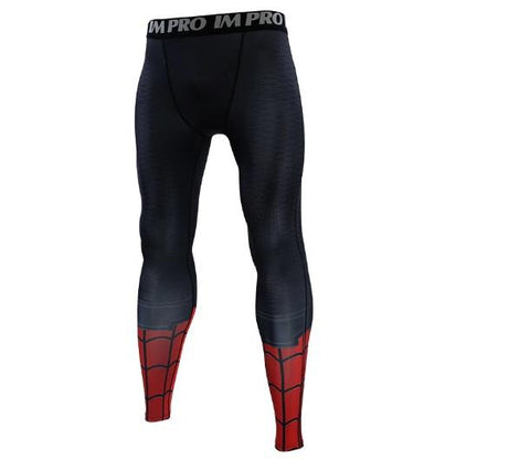 Men's Spiderman 'Far From Home' Compression Leggings Spats-RashGuardStore