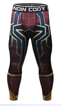 Men's Spiderman 'Iron Spider' Infinity War Premium Compression Leggings Spats-RashGuardStore