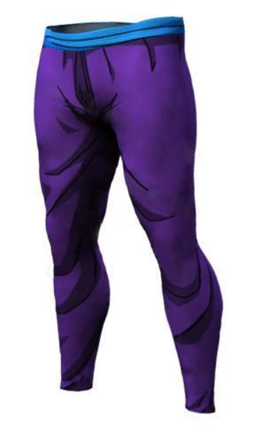 Men's Teen Gohan Armor Dragon Ball Z Leggings Premium Compression Spats-RashGuardStore