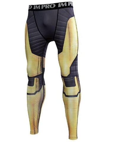 Men's Thanos 'End Game Armor' Premium Compression Leggings Spats-RashGuardStore