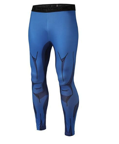 Men's Vegeta Cell Armor Dragon Ball Z Leggings Compression Spats-RashGuardStore