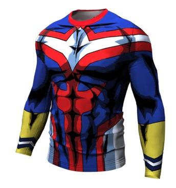 My Hero Academia 'All Might' Long Sleeve Compression RashGuard-RashGuardStore